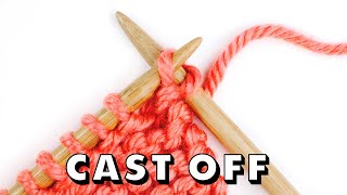 How to BIND OḞF Knitting for Total Beginners