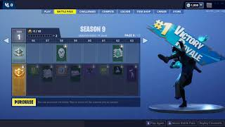 Fortnite - Season 9 full battle pass rewards