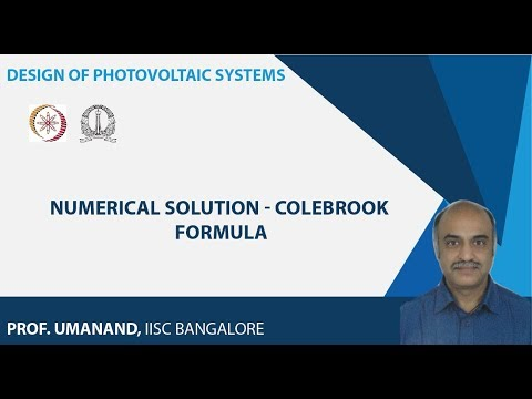 Numerical solution - Colebrook formula