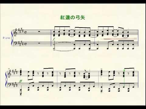 Cruel angel thesis piano sheet music