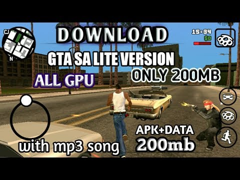 How to download GTA SA LITE VERSION all GPU ONLY 200MB WITH bollywood song in HINDI