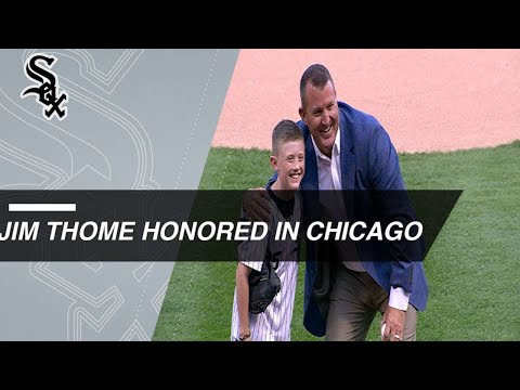 Jim Thome honored by White Sox for HOF induction