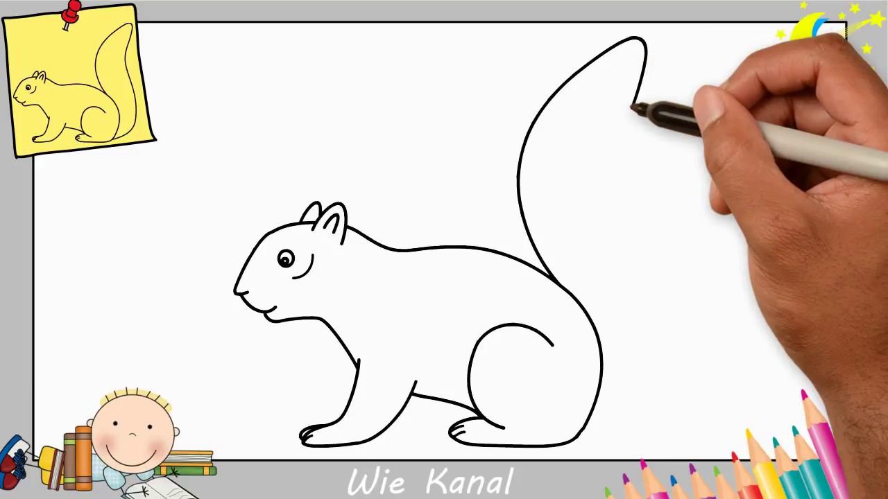 Eichhörnchen Zeichnen Lernen Einfach Schritt Für Schritt Für