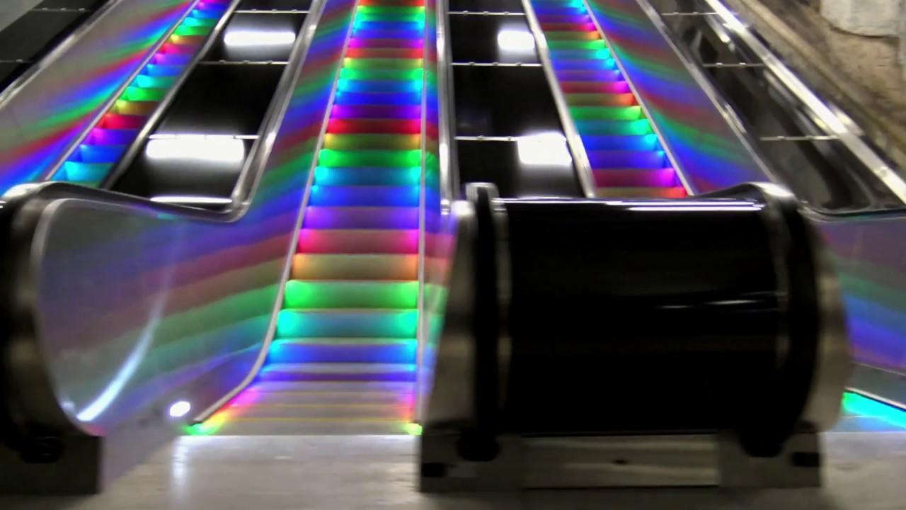 Escalator Light System Rainbow
