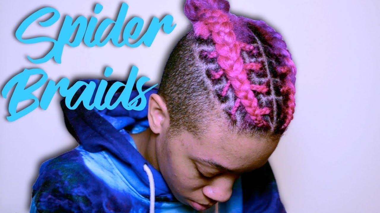 Spider Braids w Bun  For Men  Women  YouTube