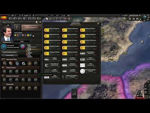 Hearts of Iron IV Millenium Dawn Spain Focus Tree (Beta)