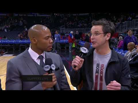 TIM KITZROW - VOICE OF NBA JAM - STOPS BY FOX SPORTS - CLIPPERS LIVE