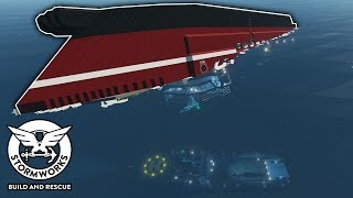 Capsizing Ship Sinks During Recovery! - Stormworks Sinking Ship Survival