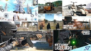 Pubg Mobile 0.10 And 0.11 Update | Mk47 New Gun | Auto Rickshaw | Snow Theme | Laser Sight | M762Gun