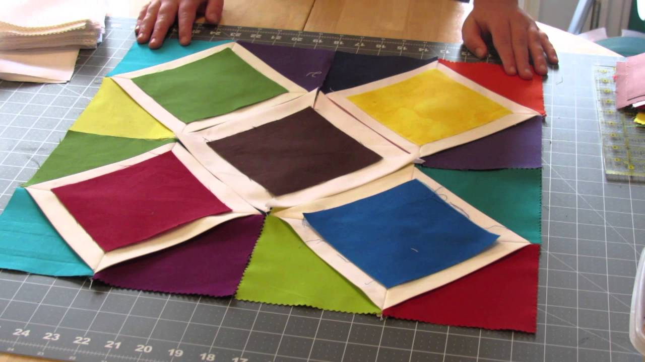 Cathedral Window Wallhanging Quilt Tutorial Youtube