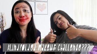 Blindfolded Makeup Challenge??? | with jejesoekarno Thumbnail