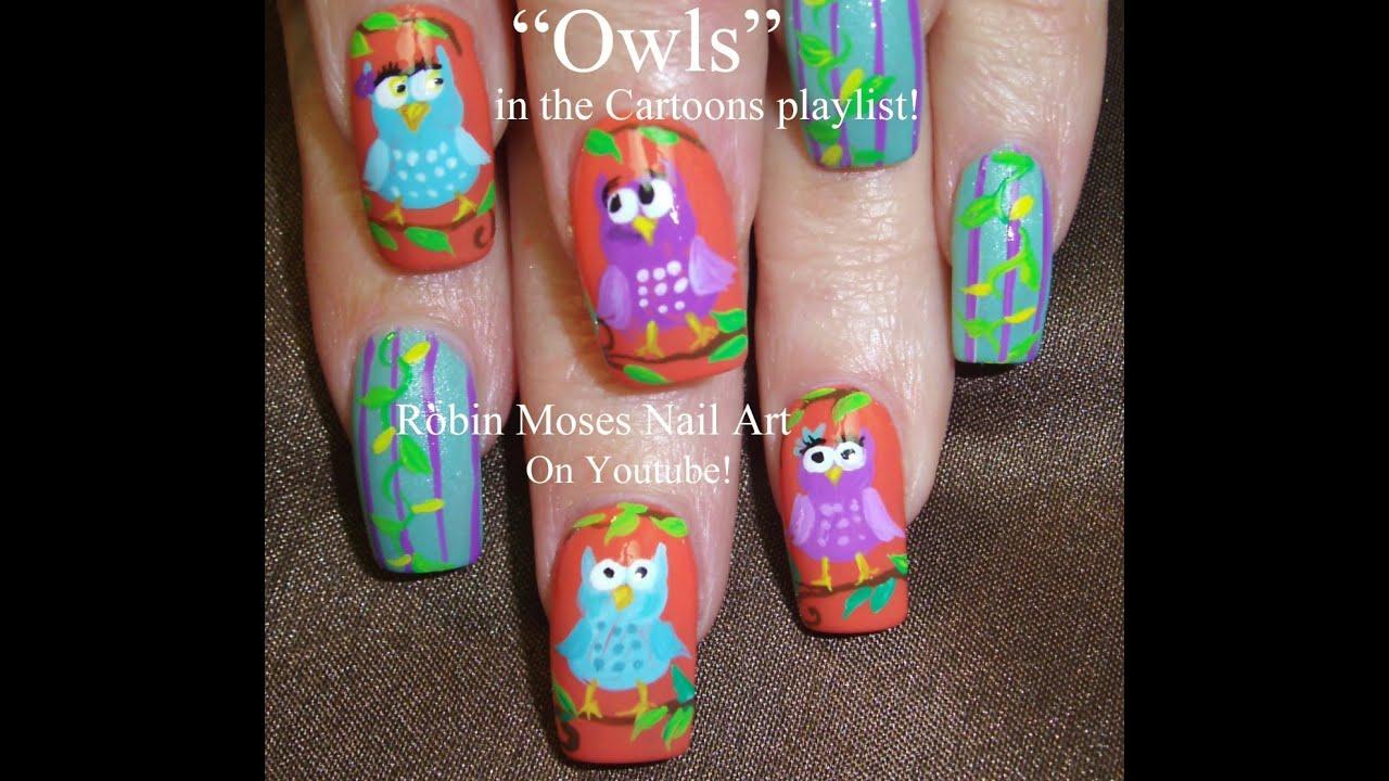 Diy Easy Owl Nails Bird Nail Art Design Youtube