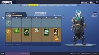 V-Bucks 69,000 Spending Spree. ALL SEASON 5 100 TIERS! Fortnite Outfit 'RAGNAROK'