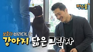A black shadow resembling a dog that follows you.│ beginner owner in Mungschool with Kang trainer