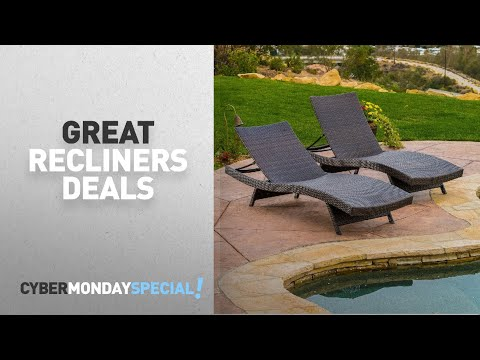 Top Cyber Monday Recliners Deals: Lakeport Outdoor Adjustable Chaise Lounge Chair (set of 2)