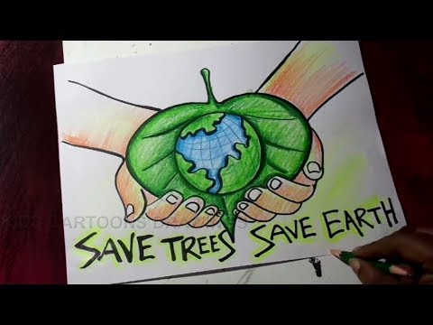 How to Draw Save Trees / Save Earth /Save Environment Poster