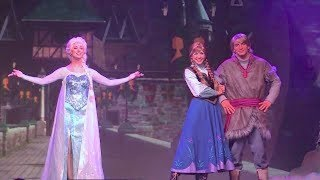 Full Frozen Summer Fun Live stage show with Anna, Elsa, Kristoff at Walt Disney World