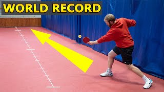 World's Longest Ping Pong Shot