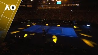 Rod Laver Arena light show - Night 1   Australian Open 2017