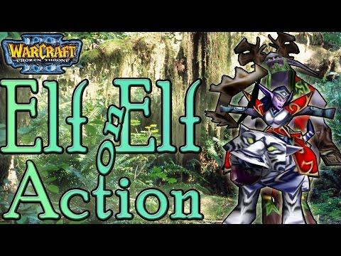 Warcraft 3 - Elf on Elf Action