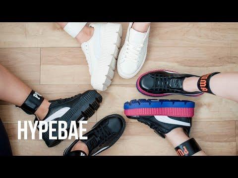 size 40 de1ab 7323d Rihanna's Fenty PUMA Ankle Strap Creeper Unboxing - YouTube