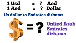 Usd to Aed I united states dollar to united arab emirates dirham exchange rate today