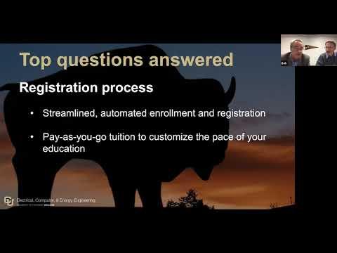 University Of Colorado Online Master Of Science In Electrical Engineering Information Webinar