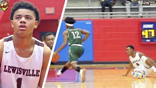 Bryce Griggs and Keyonte George BATTLED in Dallas! NASTY Ankle Breaker + Buzzer Beater!