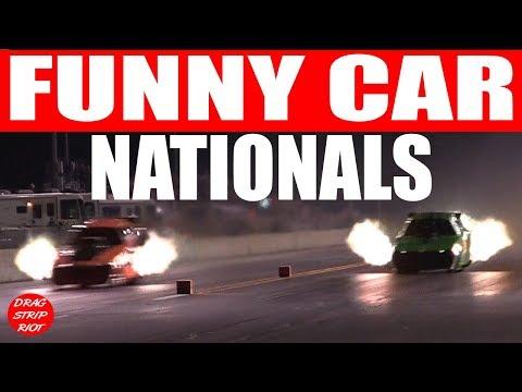 2017 Funny Car Nationals Nitro Drag Racing World's Fastest 1/4 Mile US 131 Motorsports Park Video