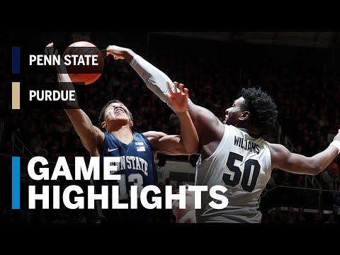 Highlights: Penn State at Purdue | Big Ten Basketball