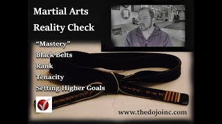 Martial Arts Reality: Black Belt, Masters, Tenacity and Higher Goals for Achievement