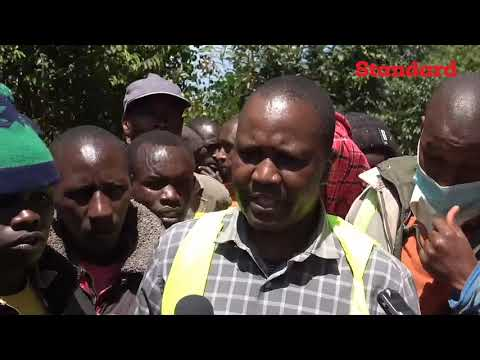 Drama in Kericho as residents stage demonstrations over quality of construction of an 8km road