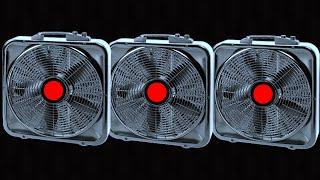 Truck Fan Sound = 3 BOX FANS For Sleep + Oscillating Fan Noise 10 Hours Dim Screen YouTube Videos