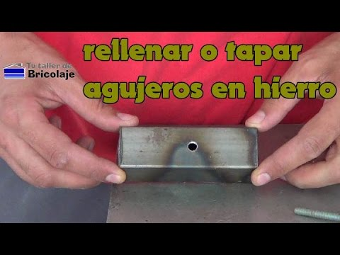 C mo rellenar o tapar agujeros en hierro youtube for Tapar agujeros pared