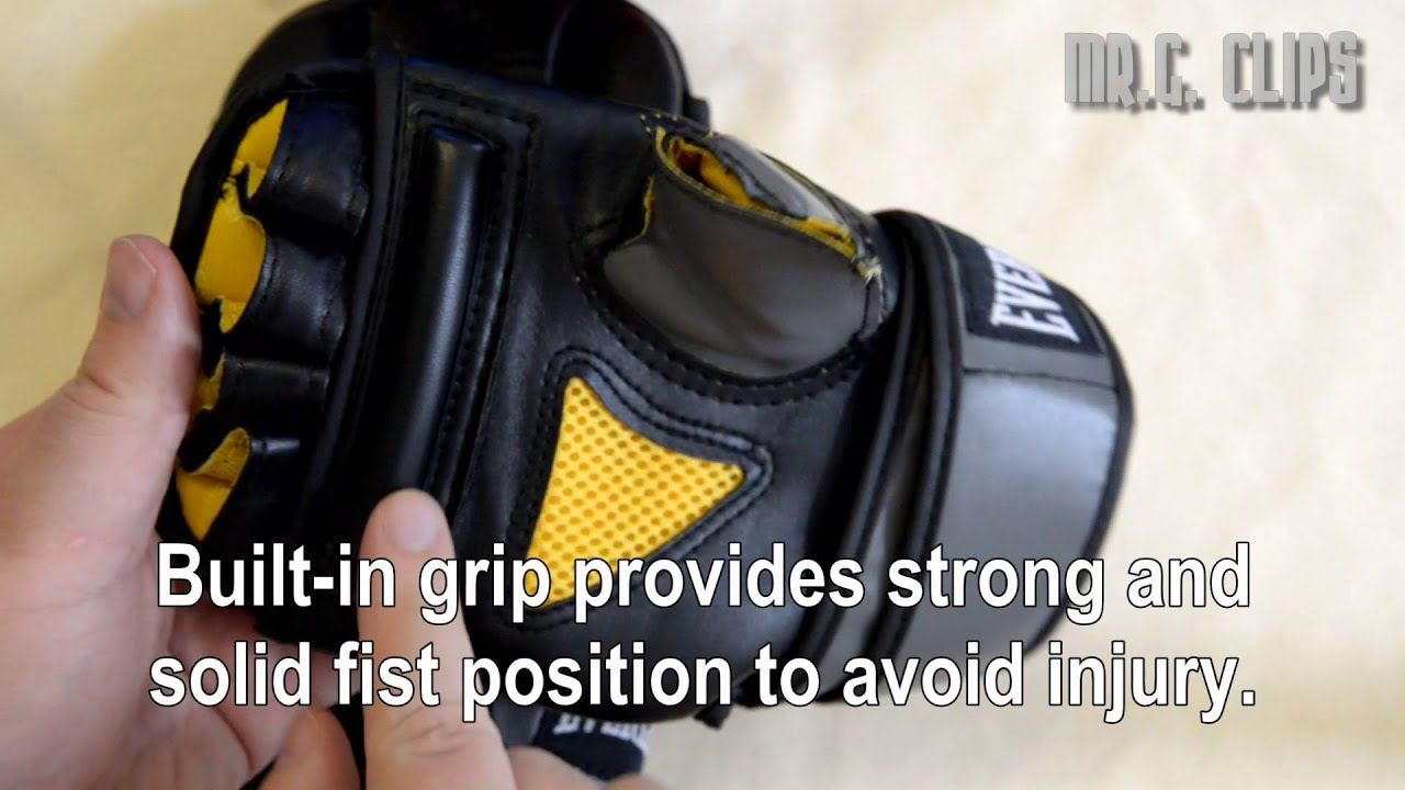 383a14d1f40 Everlast EverGel Heavy Bag MMA Gloves - YouTube