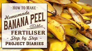 ★ How to Make Banana Peel Fertiliser  (A Complete Step by Step Guide)