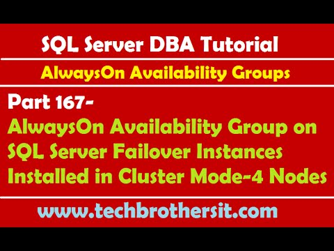 167-AlwaysOn Availability Group on SQL Server Failover Instances Installed in Cluster Mode-4 Nodes