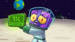 Crazy Minecraft - STUCK ON THE MOON WITH NO OXYGEN!