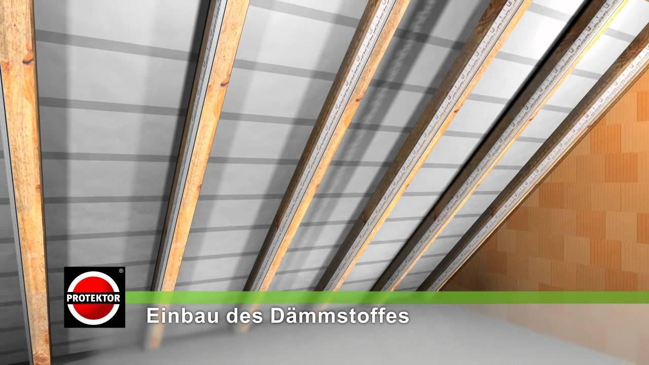 protektor montage des balkennivellierwinkelprofils youtube. Black Bedroom Furniture Sets. Home Design Ideas