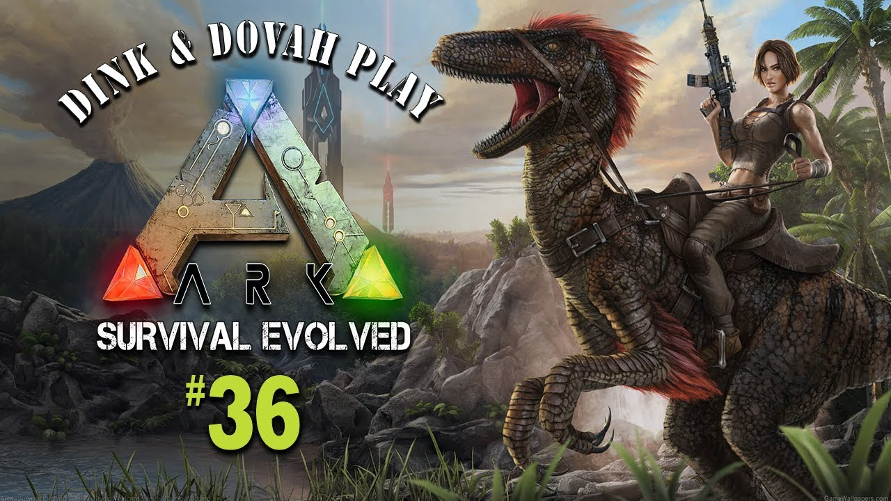 Dink & Dovah Play Ark: Survival Evolved - Ep. 37: Through the Swamp