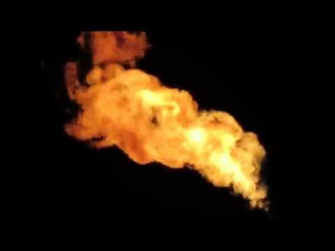 Flaring natural gas in western North Dakota - Dunn County