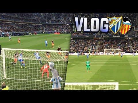 VLOG MÁLAGA CF vs VALENCIA CF (1-2) | Recibimiento, Goles, Jugadas...