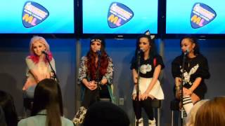 Little Mix - Dunkin Donuts Music Lounge  - Interview Part 1 (03/18/2013)