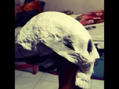 Paper mache skull!!