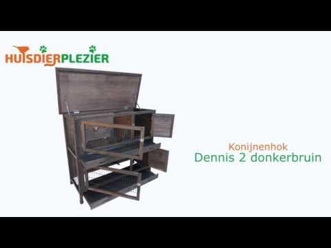 Huisdierplezier.nl | Konijnenhok Dennis 2 | Konijnenhok bouwen