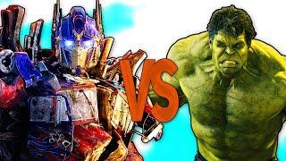 ХАЛК VS ТРАНСФОРМЕРЫ | СУПЕР РЭП БИТВА | Hulk Avengers trailer ПРОТИВ Transformers Optimus Prime
