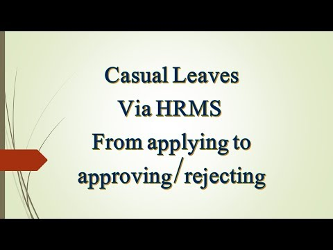Casual Leaves via HRMS Punjab School Education Department