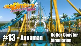 #13 Aquaman: The Waterbearer by maicon - Review 5/5 - NoLimits 2 - Roller Coaster POV - PC 60fps