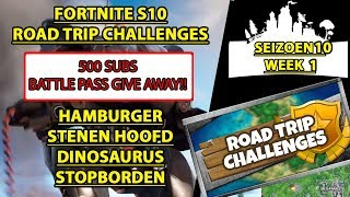 WITH CARD AND GIVEAWAY Hamburger stone head dinosaur stop signs Fortnite season 10 week 1
