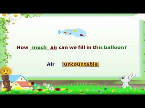 Learn Grade 3 - English Grammar -  Countable and Uncountable